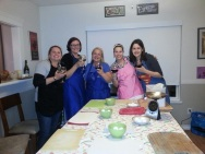 My first cooking class with some wonderful ladies that now are my friends.
